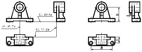 第三节  立体的尺寸标注  视图只能表示