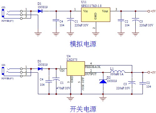 复位电路可以使用简单的阻容复位